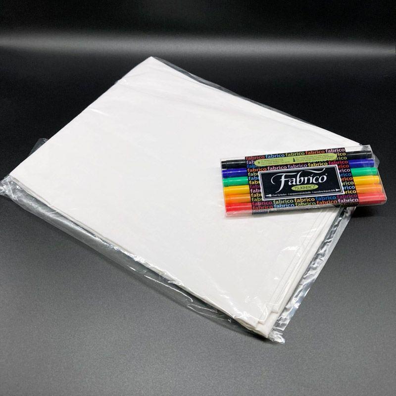 ペン+寄せ書き用無地旗(大)セット(旗サイズH100cm×W150cm)