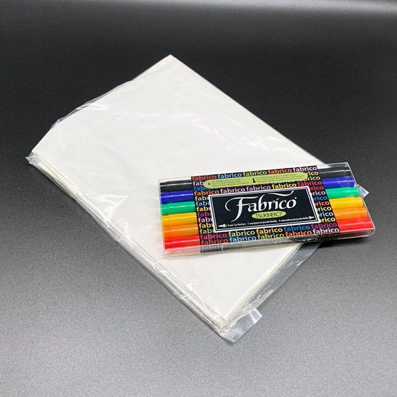 ペン+寄せ書き用無地旗(特小)セット(旗サイズ H35cm×W45cm)