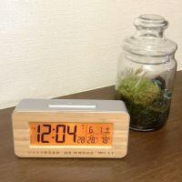 竹製目覚まし電波時計(バックライト)