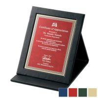 レーザー彫刻革製表彰楯 WEA-SHP-7430-B (180×140mm)