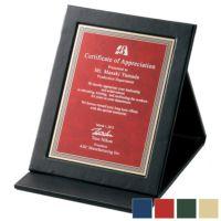 レーザー彫刻革製表彰楯 WEA-SHP-7430-A (205×160mm)